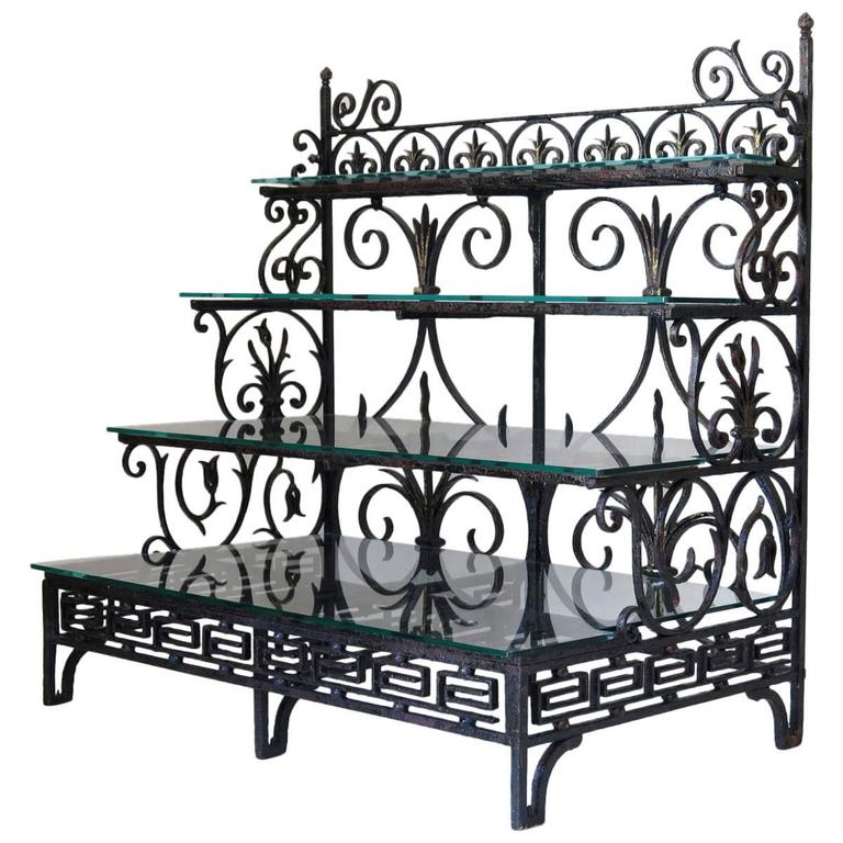 39549f1c83f1 French Wrought-Iron Shelves