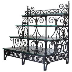"French Wrought-Iron Shelves, Dated ""1889"""