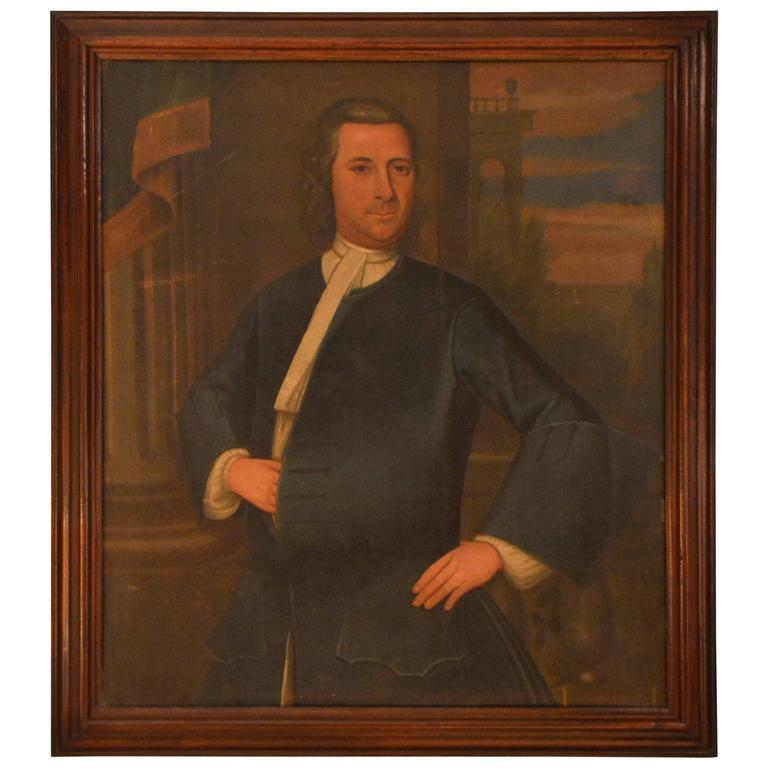 18th Century Provincial Portrait of a gentleman