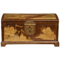 Early 18th Century Japanned Dome Top Casket