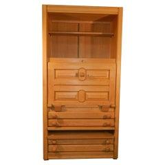 Oak Storage Cabinet by Guillerme et Chambron, circa 1970