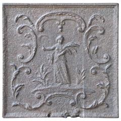 18th Century French Ceres Fireback