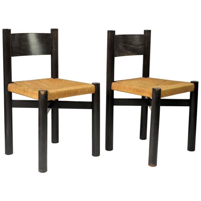 French M Ribel Chairs By Charlotte Perriand For Georges Blanchon 1948 For Sale At 1stdibs