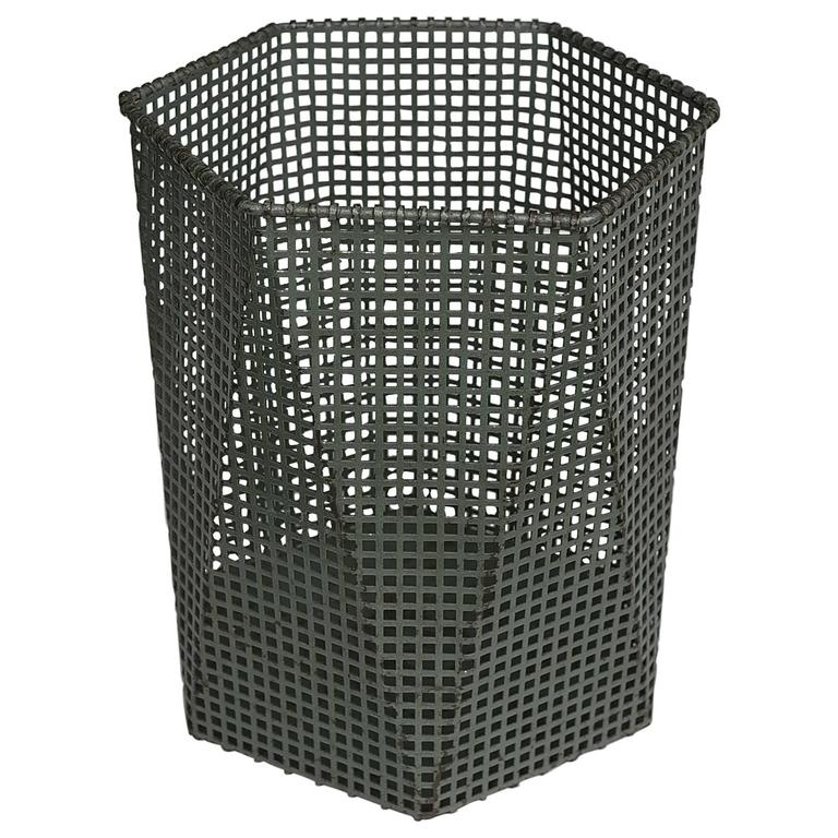 Wastepaper Basket Unique Modernist Cubic Wastepaper Bin In Style Of Josef Hoffmann For Sale Review