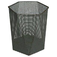 Modernist Cubic Wastepaper Bin in Style of Josef Hoffmann