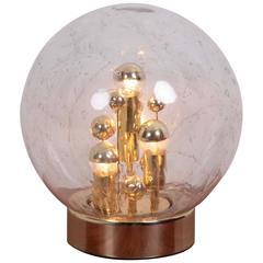 Huge Handblown Glass Globe Table Lamp by Doria