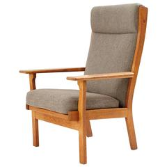 Hans Wegner High Back Lounge Chair by GETAMA