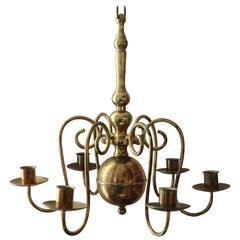 19th Century Brass Chandelier