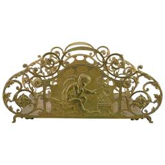 Late 19th Century French Log Carrier or Magazine Holder in Cast Brass