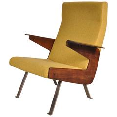 Rare Armchair by Joseph-André Motte for Steiner, France, 1955