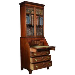 Mahogany Bureau Bookcase off Small Proportions