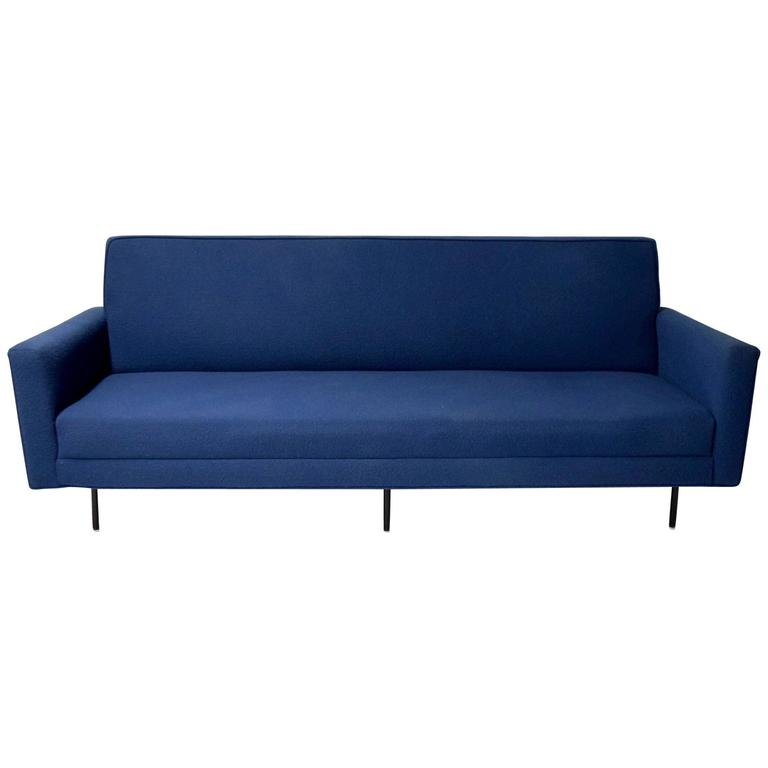 Sofa by Florence Knoll Has Been Recently Upholstered in Knoll Fabric, circa 1950
