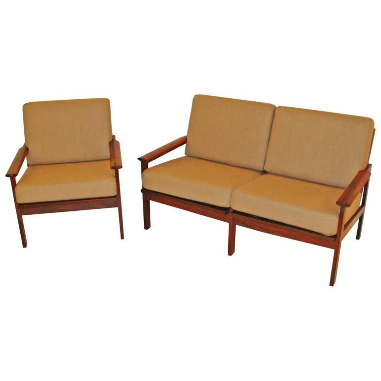 Danish Rosewood Chair and Settee by Illum Wikkelsø