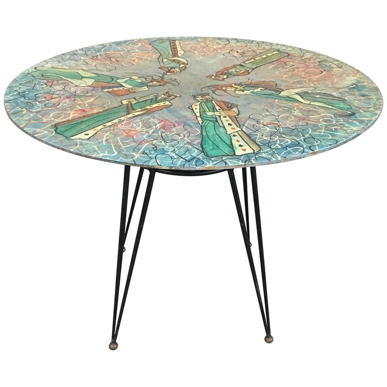 Glamorous Table by Decalage, Signed For Sale