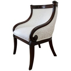 19th Century Empire Tub Armchair