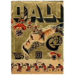 "Rare Vintage ""Les Diners de Gala"" Book by Salvador Dali, 1973, First Edition"