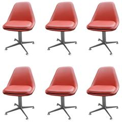 Set of Six Pivoting Seats in the Style of Charles Eames