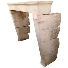 Antique Limestone Mantel