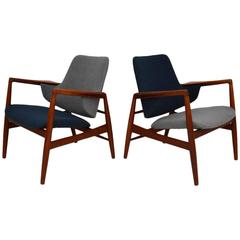 Pair of Danish Teak Armchairs Vintage, 1960s