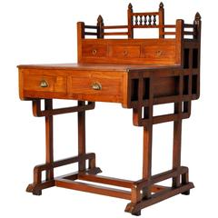 Art Deco Desk with Five Drawers