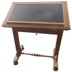 English Writing Table with Leather Insert Top