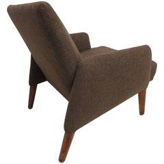 Handsome Teak Lounge Chair Mid-Century Modern