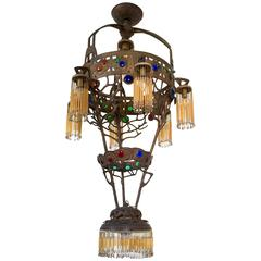 Stunning and Majestic Italian Liberty Chandelier, circa 1910s