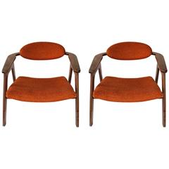 Pair of Adrian Pearsall, 1950s 'Captain's Chairs'