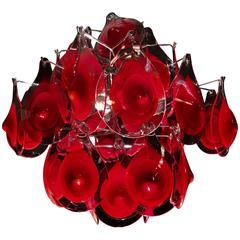 Charming Murano Chandelier by Vistosi, 1960s