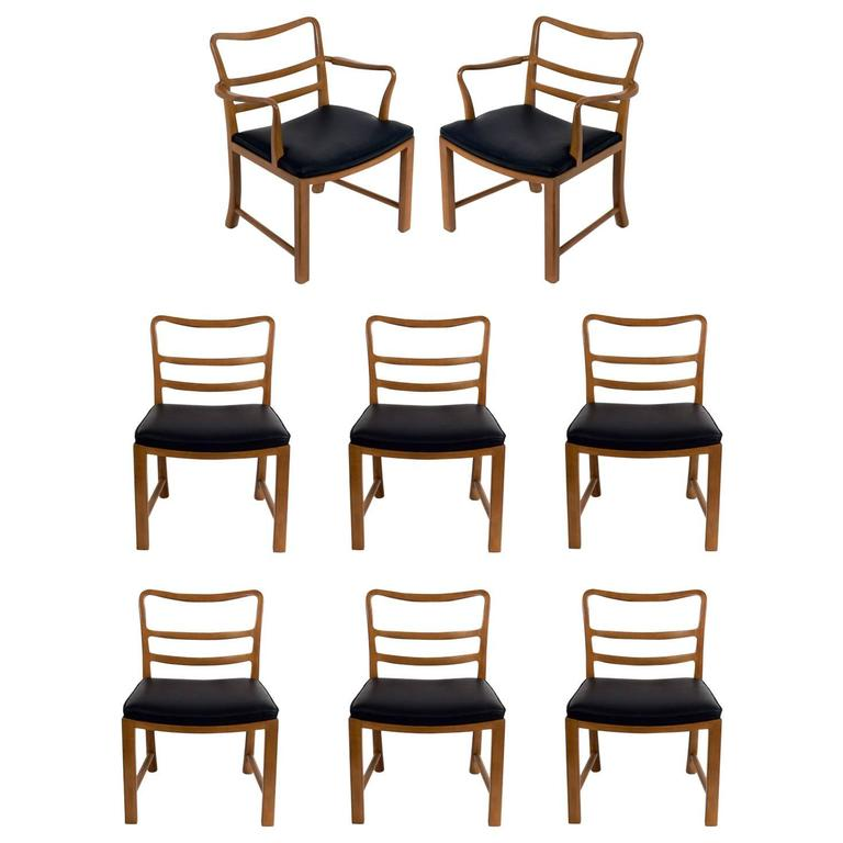 Set of Eight Dining Chairs by Edward Wormley for Dunbar