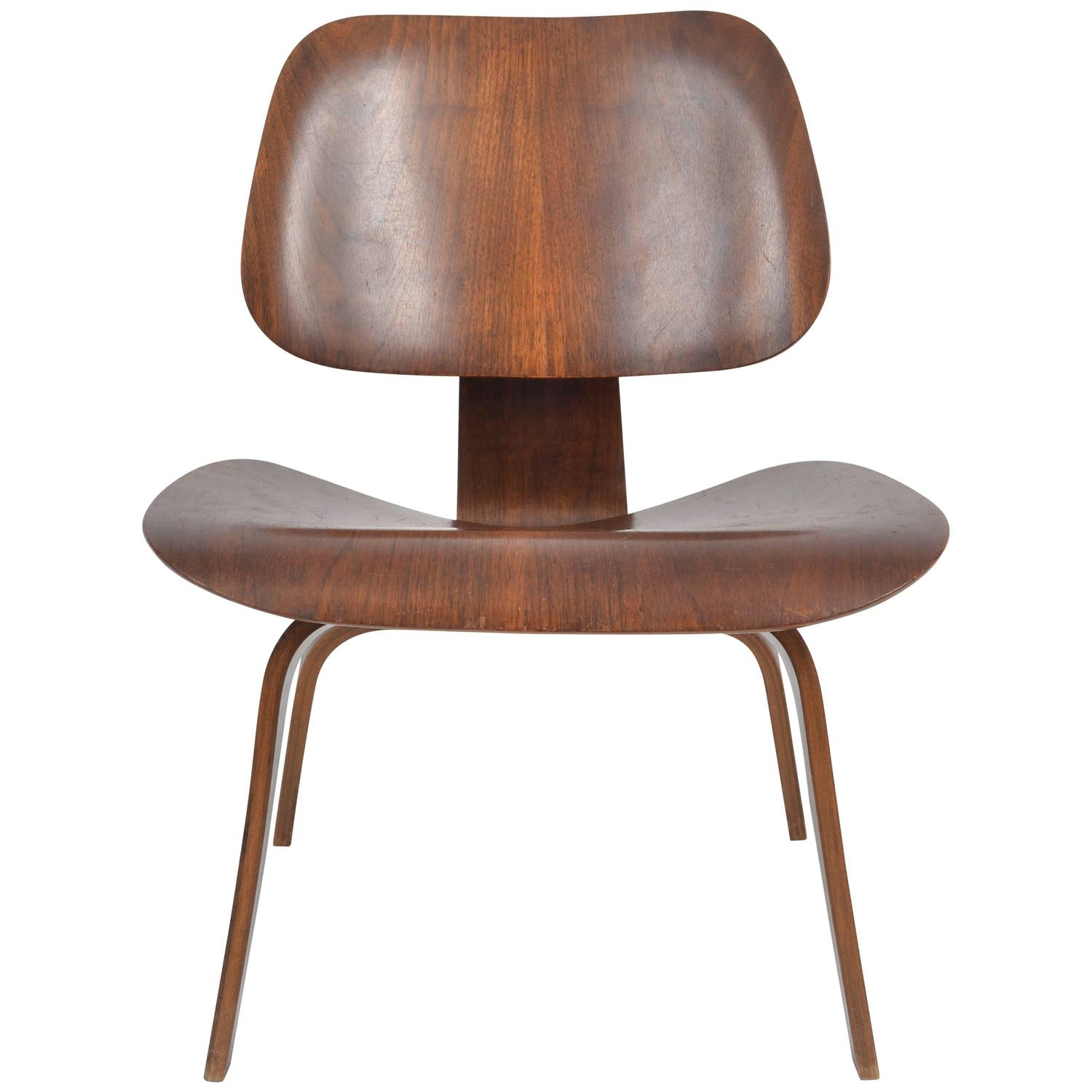 Herman Miller Walnut Evans LCW Lounge Chair by Charles and Ray