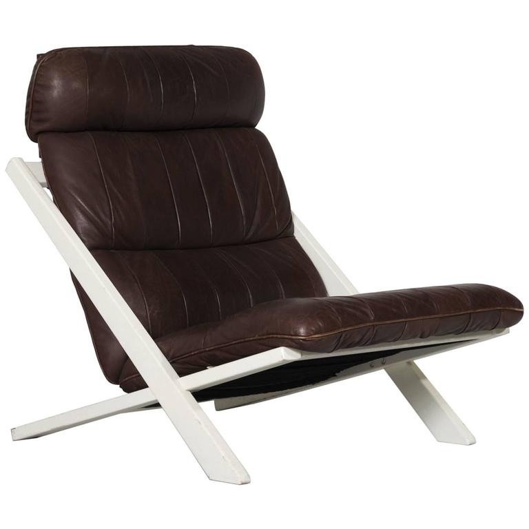 Uli Berger Lounge Chair in Brown Leather for De Sede Switzerland