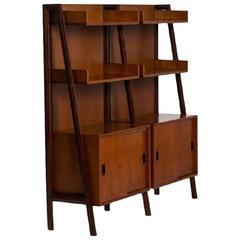Teak Free Standing Shelf Unit, 1960s