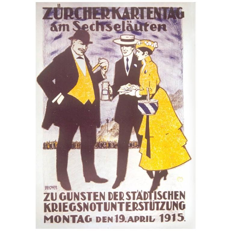 swiss spring festival poster by carl moos circa 1915 for sale at 1stdibs. Black Bedroom Furniture Sets. Home Design Ideas