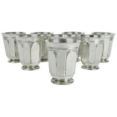 Heavy Sterling Silver Tumblers or Julep Cups by Marie Zimmermann, circa 1915