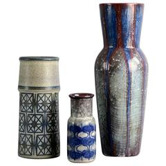 Three Mid-Century Vases by Marianne Starck for Michael Andersen and Sons
