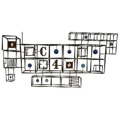 "1969 ""The Apartment 4C"" Sculpture by Donald Hendricks"