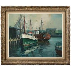 "Oil on Canvas by M. Stoffa, American, Titled ""Rockport"""