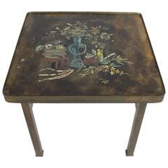 Philip and Kelvin LaVerne Bronze Enamel Side Table Kang Design
