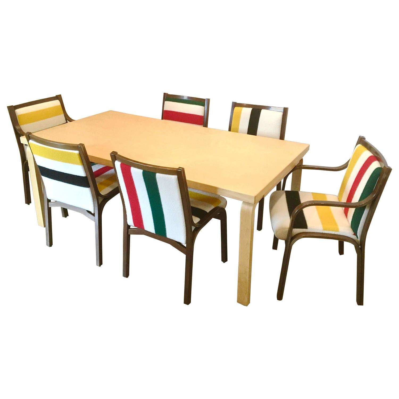 Leather sofa by poltrona frau at 1stdibs - Scandinavian Style Bentwood Dining Set Pendleton Alvar Aalto Amp Poltrona Frau