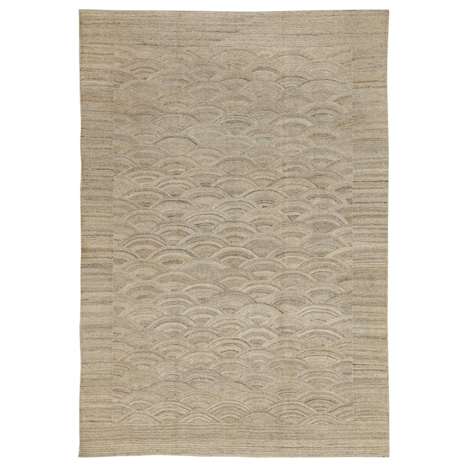 Orley Shabahang Signature Flat-Weave Carpet in Pure Handspun Wool, Undyed
