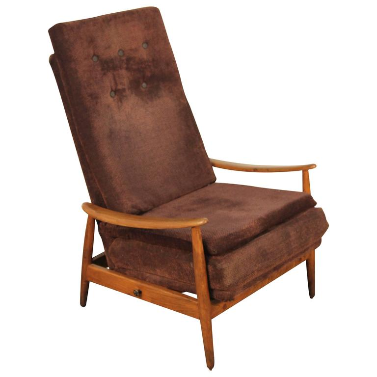 Early Milo Baughman for James Inc. Reclining Lounge Chair