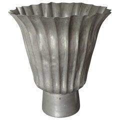Italian Fluted Lead Vase