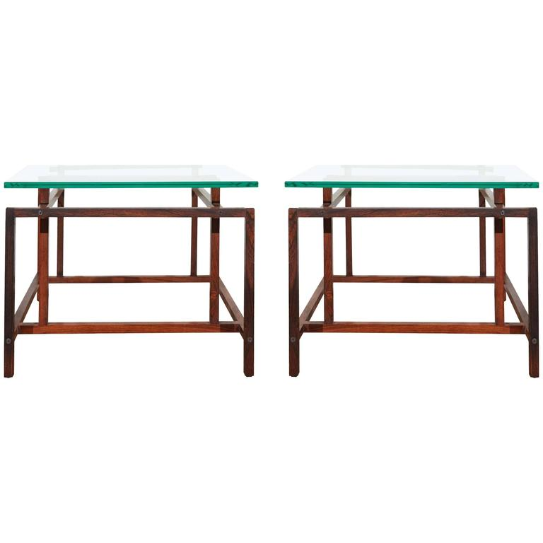 Pair of Rosewood Side Tables by Henning Norgaard for Komfort