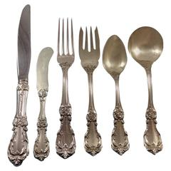 Burgundy by Reed & Barton Sterling Silver Flatware Set 12 Service Lunch 74 Pcs