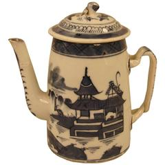 19th Century Chinese Export Canton Small Coffee Pot