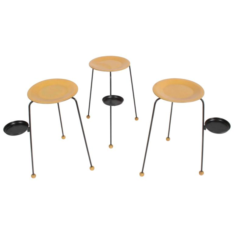Tony Paul Stacking Side Drink Tables Set of Three Mid-Century For Sale