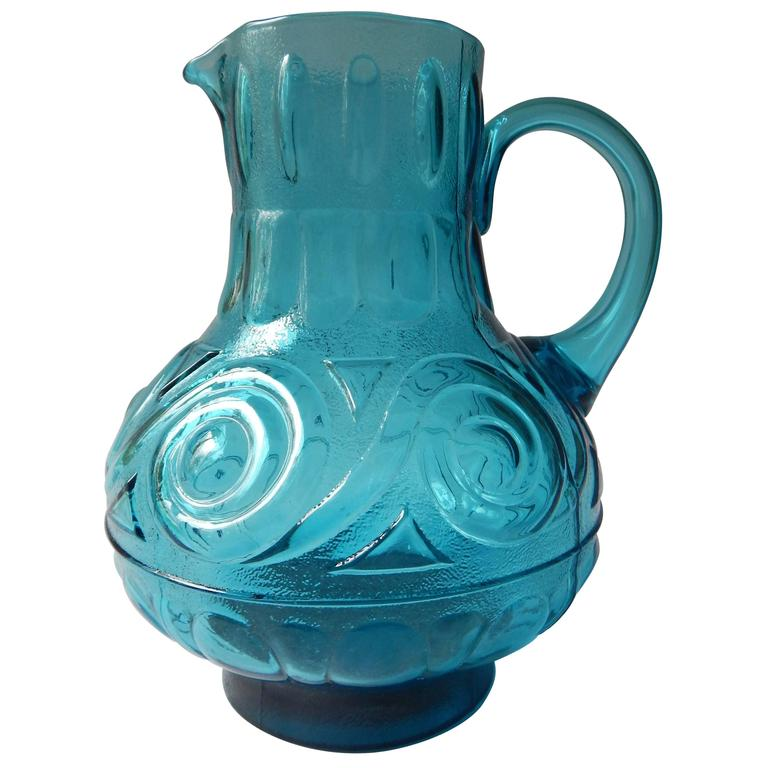 1960s, Mid-Century Glass Pitcher, Italy