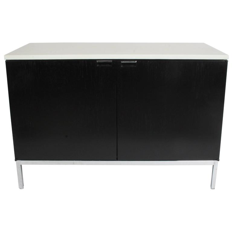 Florence Knoll Credenza Marble Top Ebony Stain 1