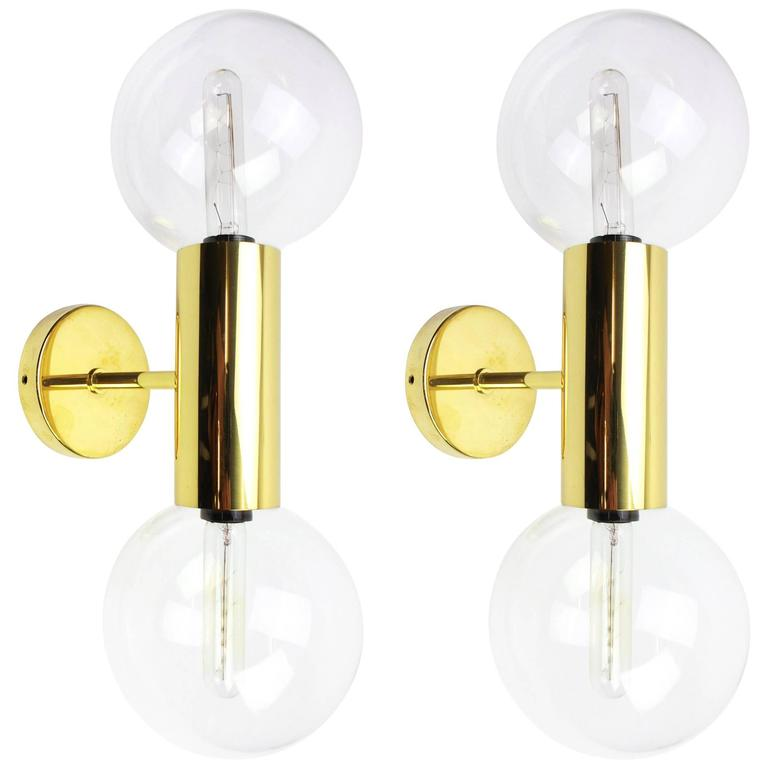 Mid-Century Pair of Wall Sconces Design Motoko Ishii by Staff, Germany, 1970s